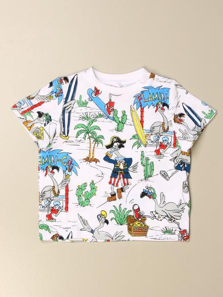 Stella McCartney T-shirt with all-over flamingo prints