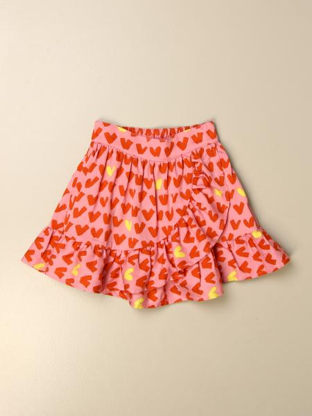 Stella Mccartney kids: Stella McCartney wide skirt with heart pattern