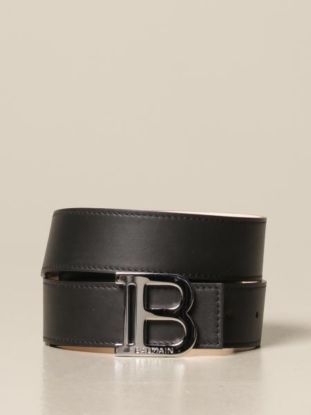Balmain: Cintura B Balmain in pelle