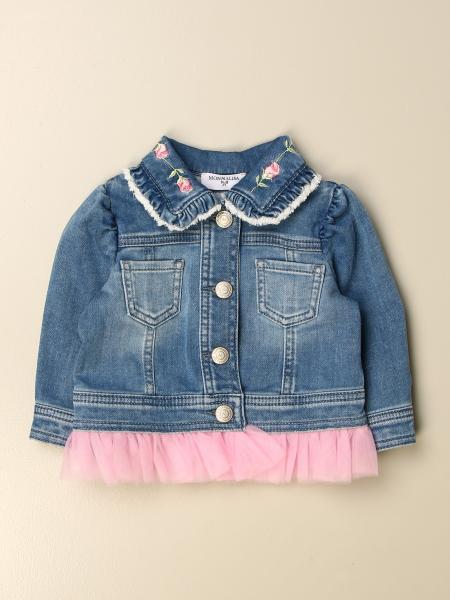 Monnalisa bambino: Giacca di jeans Monnalisa con logo