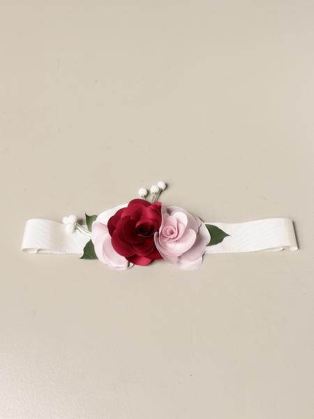 Monnalisa bambino: Cintura Monnalisa con applicazioni floreali