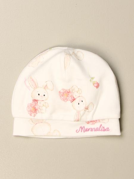 Monnalisa hat in cotton with logo