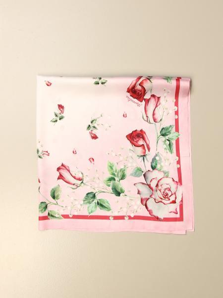 Monnalisa scarf with rose pattern