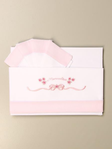 Monnalisa layette sheets in cotton with bow