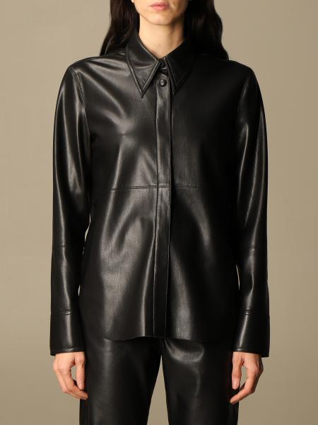 Nanushka: Nanushka leather shirt