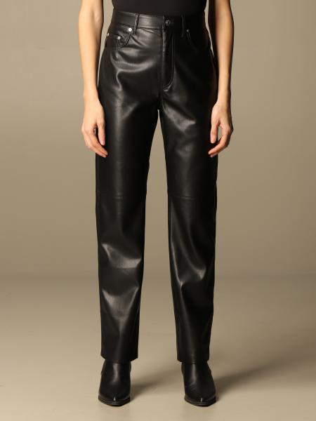 Nanushka: Nanushka high-waisted leather trousers