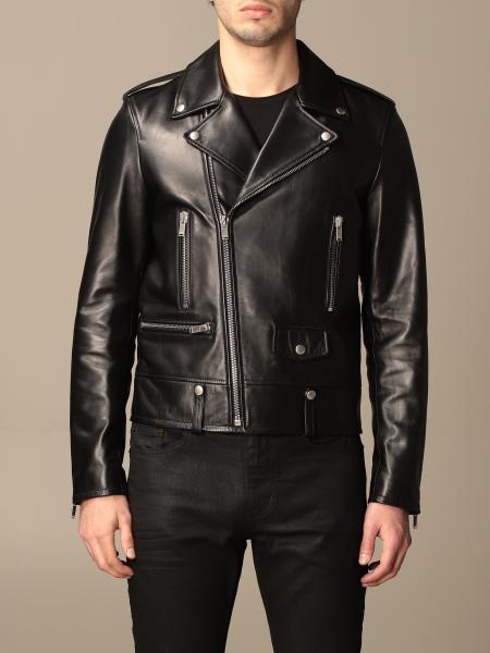 Saint Laurent full zip leather jacket