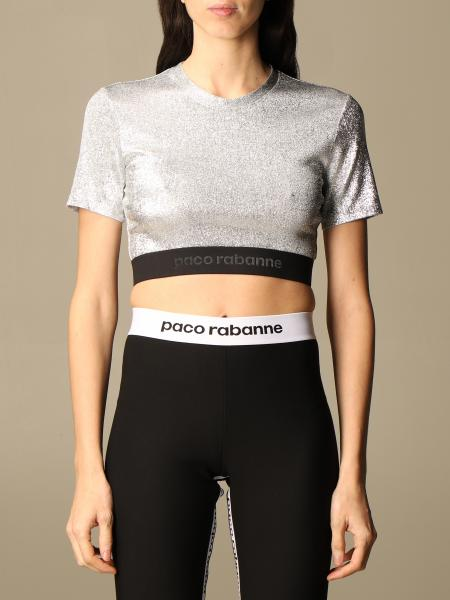Top lurex Paco Rabanne cropped