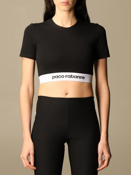 Paco Rabanne: Paco Rabanne cropped top with logo