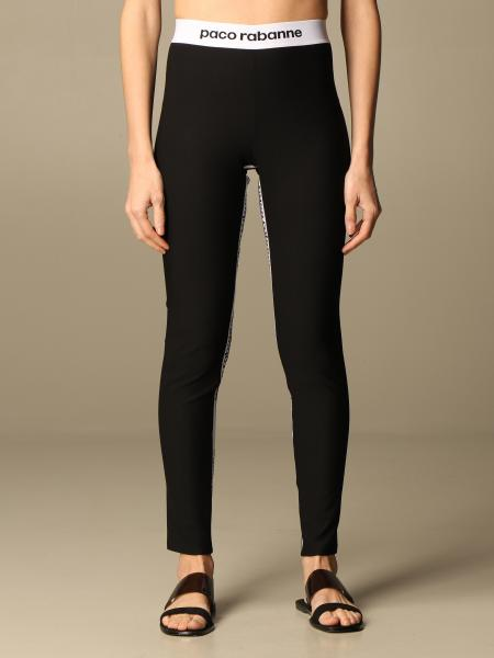 Paco Rabanne: Paco Rabanne stretch leggings with logo