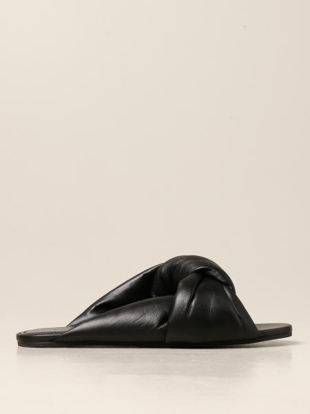Balenciaga Drapy flat sandal in padded nappa