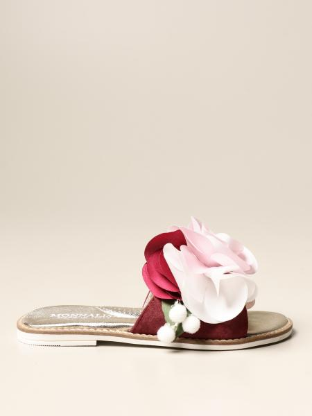 Monnalisa bambino: Sandalo flat Monnalisa con fiore