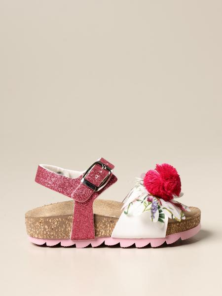 Monnalisa bambino: Sandalo Monnalisa con fiore e pompon