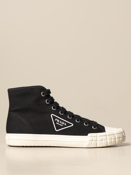 Sneakers Prada in canvas con logo triangolare