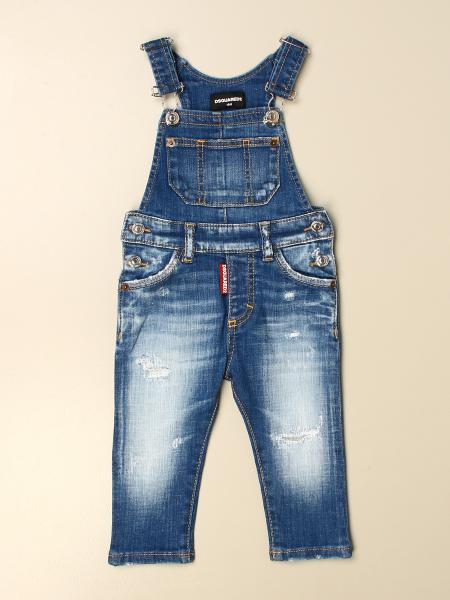 Dsquared2 Junior kids: Dsquared2 Junior denim overalls in denim