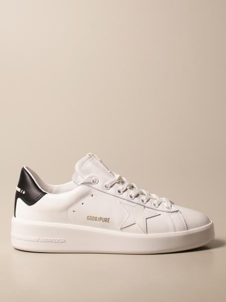 Sneakers Pure New Golden Goose in pelle liscia
