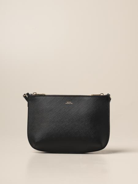 Shoulder bag A.P.C. in saffiano leather