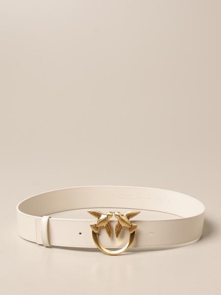 Pinko women: Love Berry Pinko leather belt with buckle