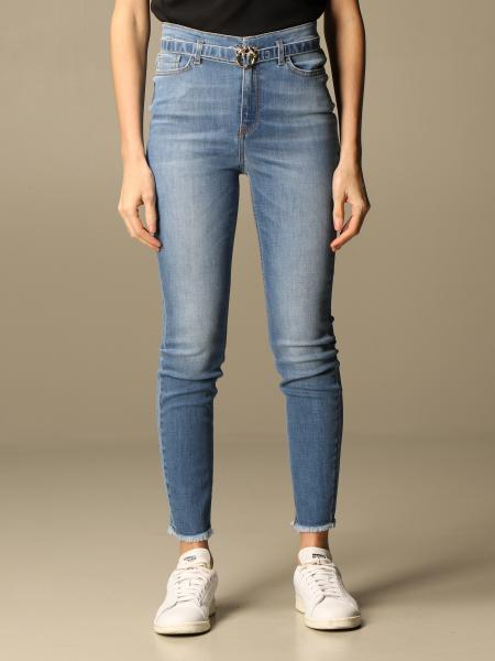 Pinko: Pinko jeans with belt and Love Birds buckle