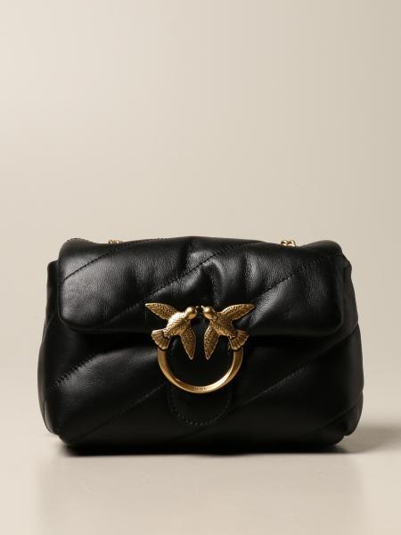 Pinko: Love mini Puff Maxi Quilt Pinko bag in matelassé nappa