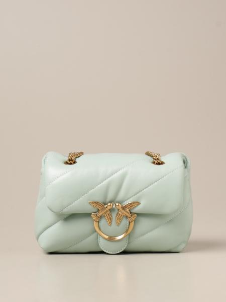 Love mini Puff Maxi Quilt Pinko bag in matelassé nappa