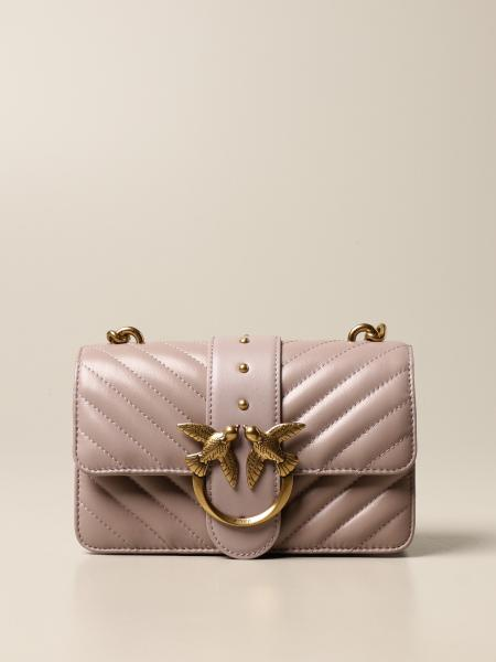 Pinko: Love Mini Icon Simply Pinko bag in quilted nappa