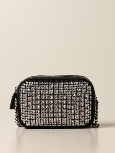 La Carrie bag in synthetic leather and rhinestones