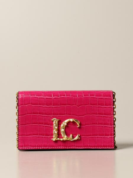 La Carrie crossbody bag in synthetic leather with crocodile print