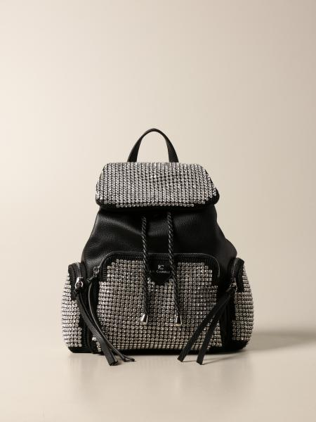 La Carrie backpack in synthetic leather and rhinestones
