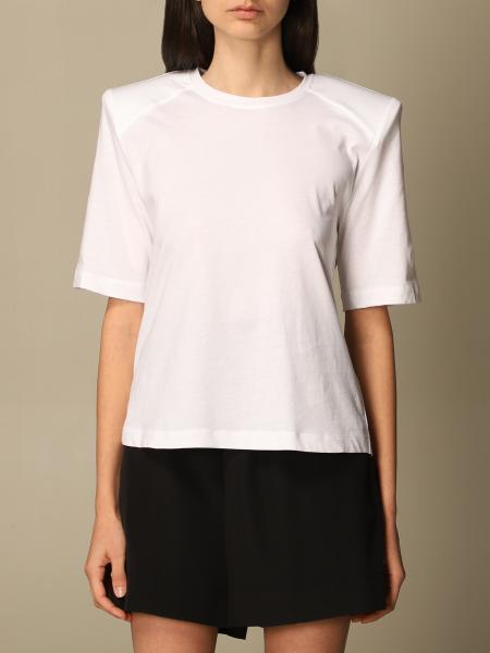 Federica Tosi: Federica Tosi basic t-shirt with padded shoulder straps