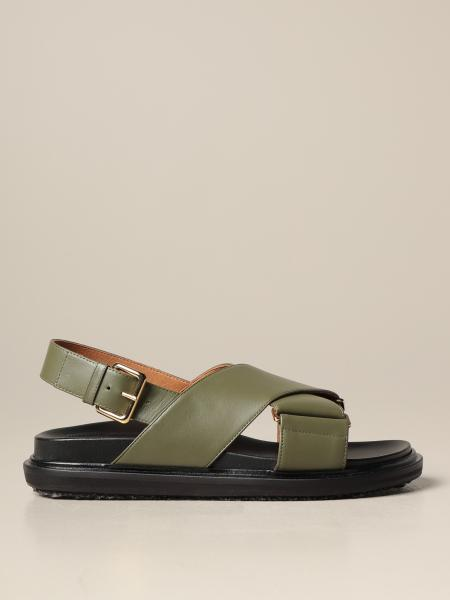 Marni: Sandalo Fussbett Marni in pelle
