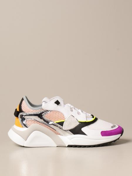 Philippe Model donna: Sneakers Philippe Model in pelle e rete