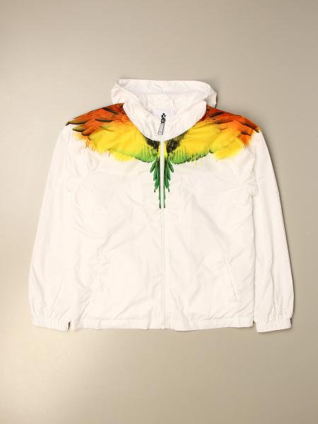 Marcelo Burlon nylon zip jacket with bird feathers