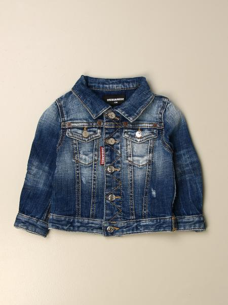 Dsquared2 Junior kids: Dsquared2 Junior denim jacket in used denim