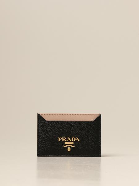 Porta carte di credito Prada in pelle