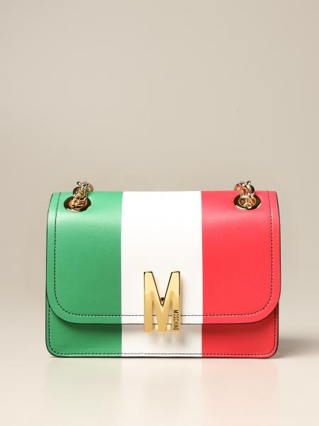 Moschino Couture Italian Slogan M bag in leather