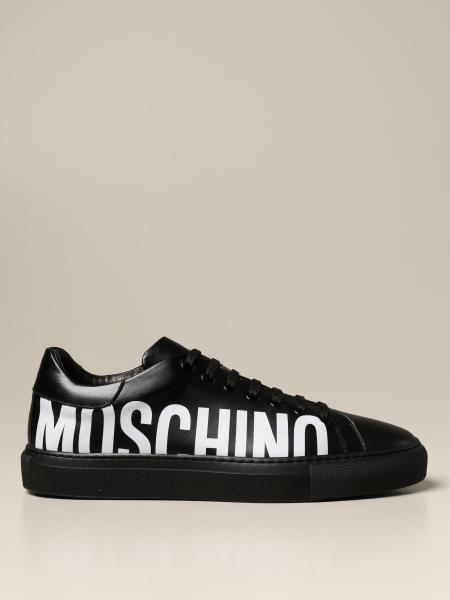 Moschino Couture sneakers in leather with logo