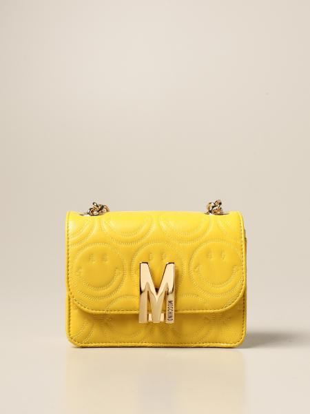 Moschino Couture Smiley M bag in nappa leather with logo