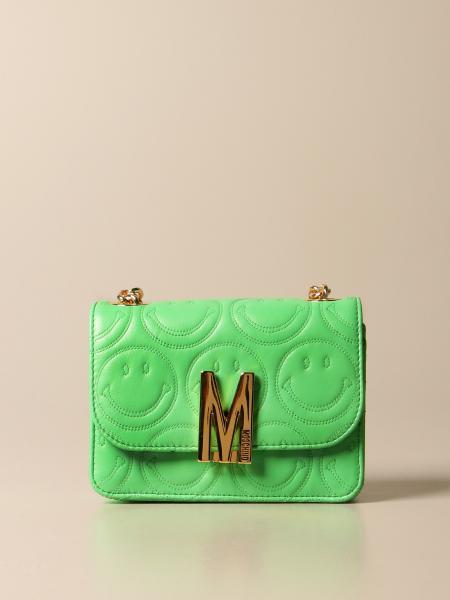 Moschino women: Moschino Couture Smiley M bag in nappa leather with logo