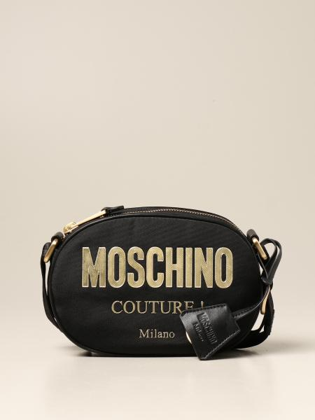 Moschino Couture bag in canvas with laminated logo