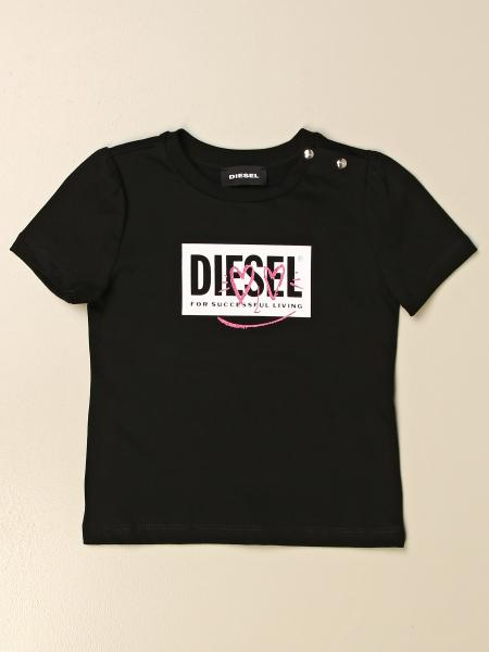 Diesel t-shirt in cotton with graffiti logo
