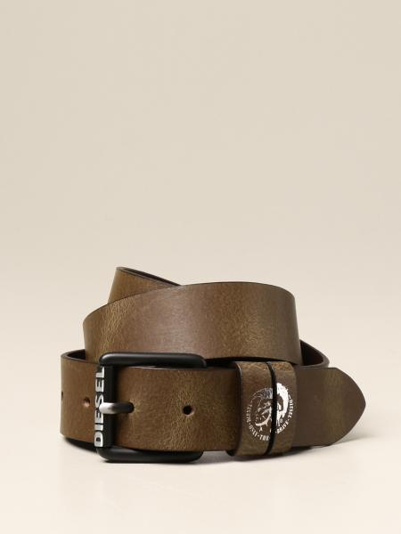 Diesel leather belt with logo