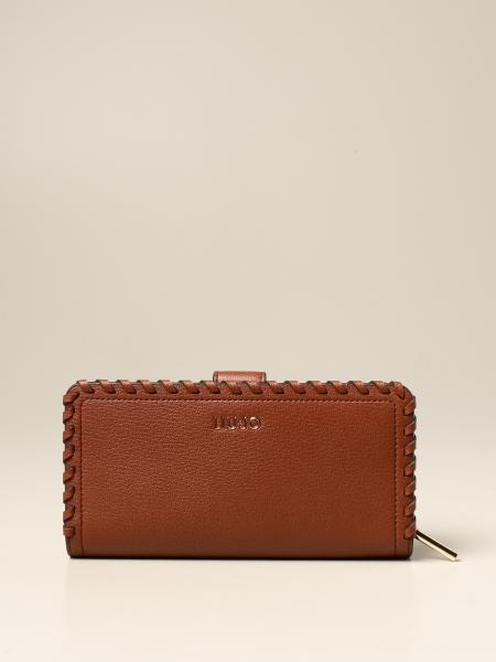 Liu Jo continental wallet in synthetic leather with logo