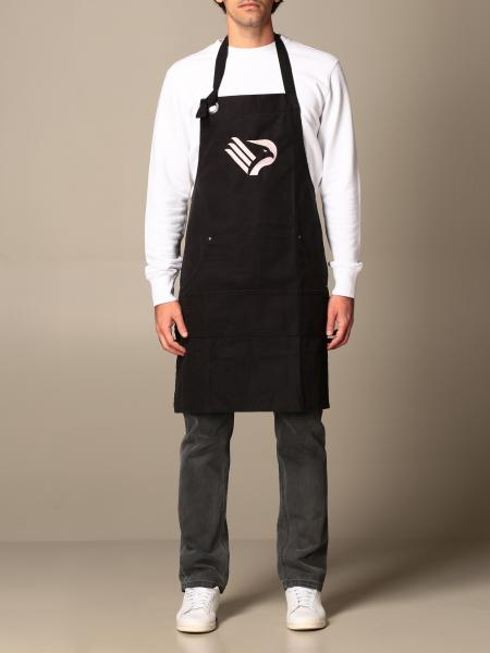 Palermo apron with embroidered logo and double pocket