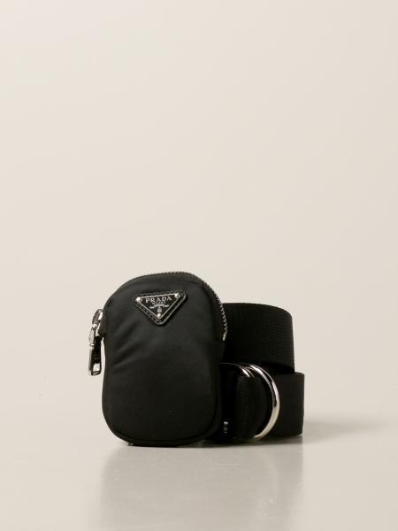 Cintura Prada in nastro nylon con micro bag