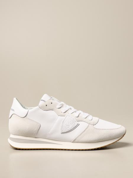 Philippe Model: Sneakers Philippe Model in pelle e camoscio