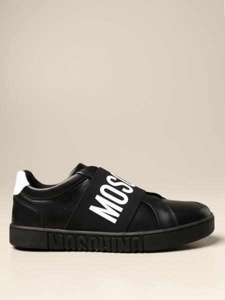 Moschino Couture sneakers in leather with band