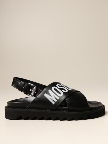 Sandalo Moschino Couture in pelle con logo