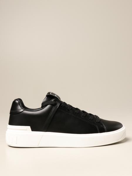 B-Court Balmain leather trainers