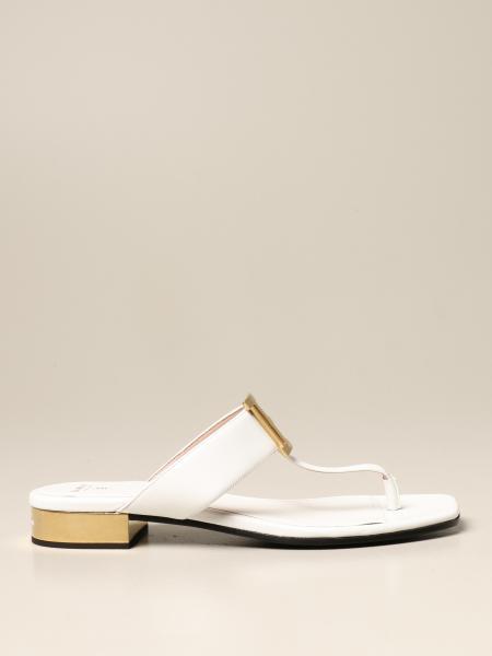 Balmain flat leather sandal